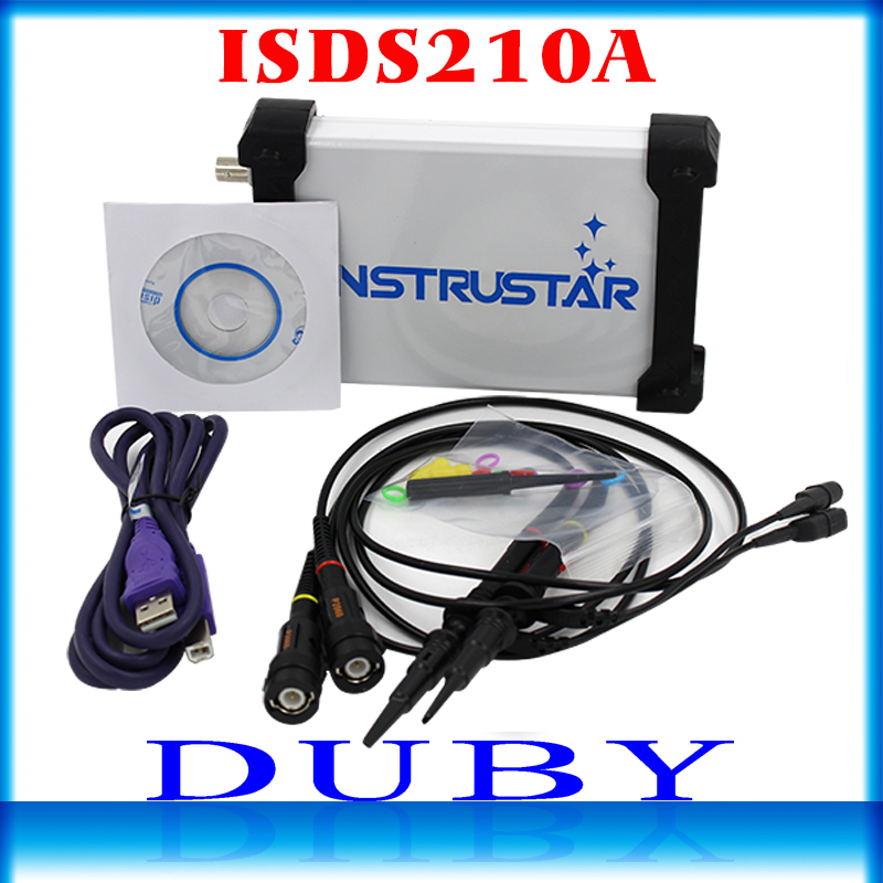 ISDS210A PC Based USB Portable digital Oscilloscope 2 Channels 40M 100MS s FFT Analyzer
