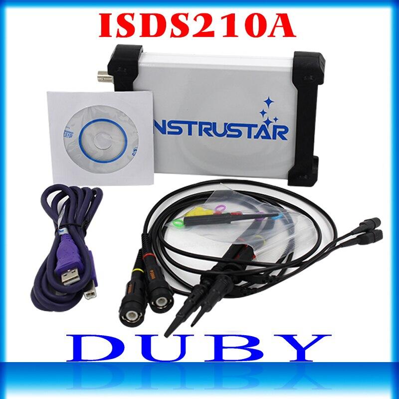 ISDS210A Sur PC USB Portable Oscilloscope numérique 2 Canaux 40 M 100 MS/s FFT Analyseur
