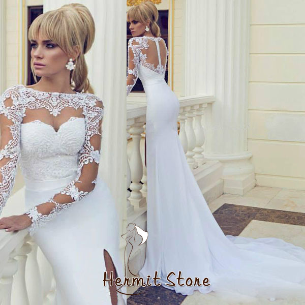 Zm0006 Open Hot Sexy Girl Photo Wedding Dress Lace Sleeves To Add Sale