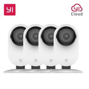YI-cámara de seguridad IP inalámbrica, sistema de vigilancia de visión nocturna bidireccional para casa, oficina, tienda, Monitor de mascotas para bebés YI Cloud, 4 piezas