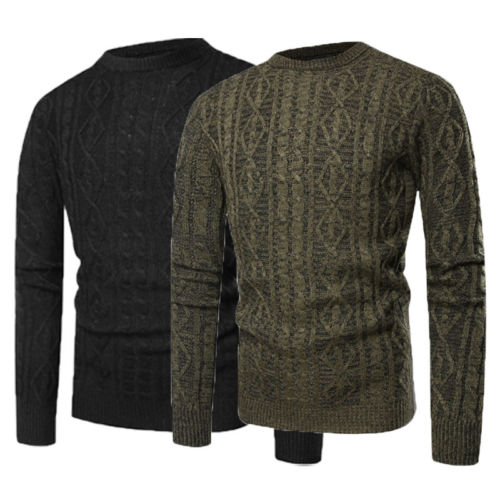 2018 New Fashion Hot Popular Men Casual Round Neck Fashion Knit Sweater Pullover Knitwear Jumper Coat Tops