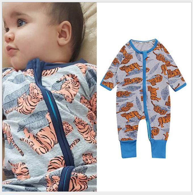 cartoon rabbit tiger fish bone rompers Infant Jumpsuits new born baby clothes 1st birthday costume cotton printing baby clothes
