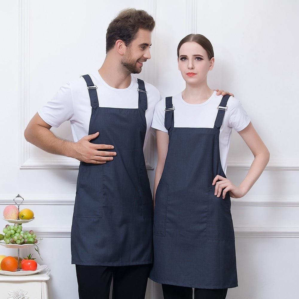 US Fashion Men Women Cooking Kitchen Restaurant Chef Bib Apron Dress with Pocket