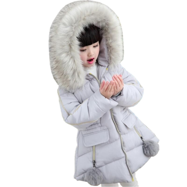 69669f1a8 2 14 Years Baby Teenage Girl Winter Coat Cotton padded Parka 2018 ...