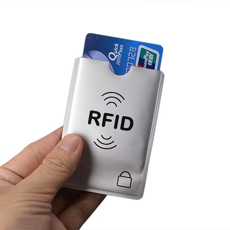 Anti Rfid Card Holder id Credit Cards Wallet Aluminium Protect Bank Metal Credit Card Holder Cardholder