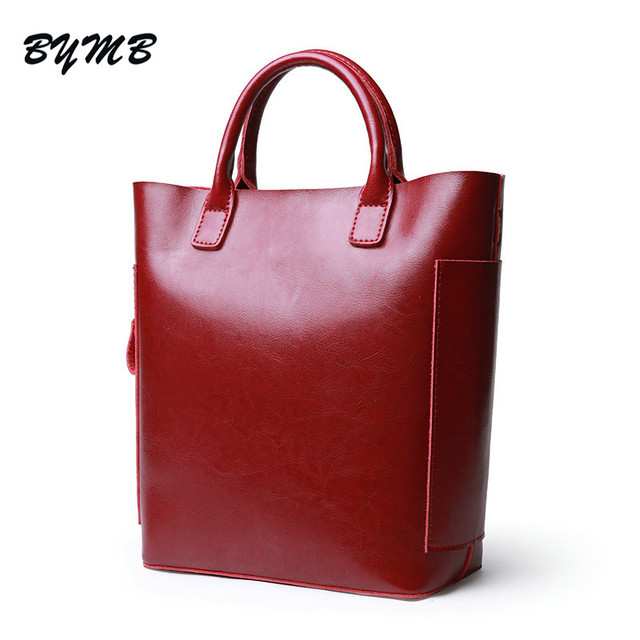 2018 Large Tote Bag 100% Real Genuine Leather Bags Women 2018 Famous Brand  Ladies Handbag 009ac03e9d
