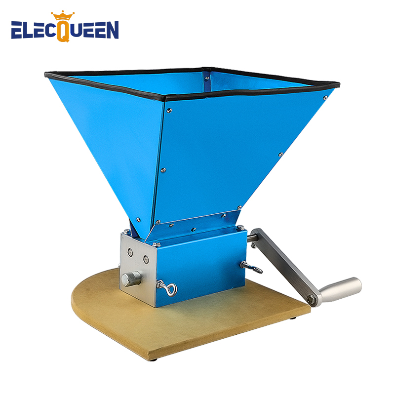 3-roller Barley Malt Mill Upgraded Version Grain Grinder,3 Rollers Wheat Crusher + Sturdy Pine Wood Board ,Home Brew Accessories