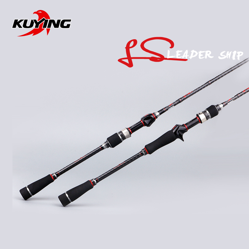 KUYING Leadership 1.92m 2.16m 2.19m 2.28m 2.7m Spinning Casting Lure Fishing Rod Pole Stick Carbon Cane FUJI Parts Medium Fast