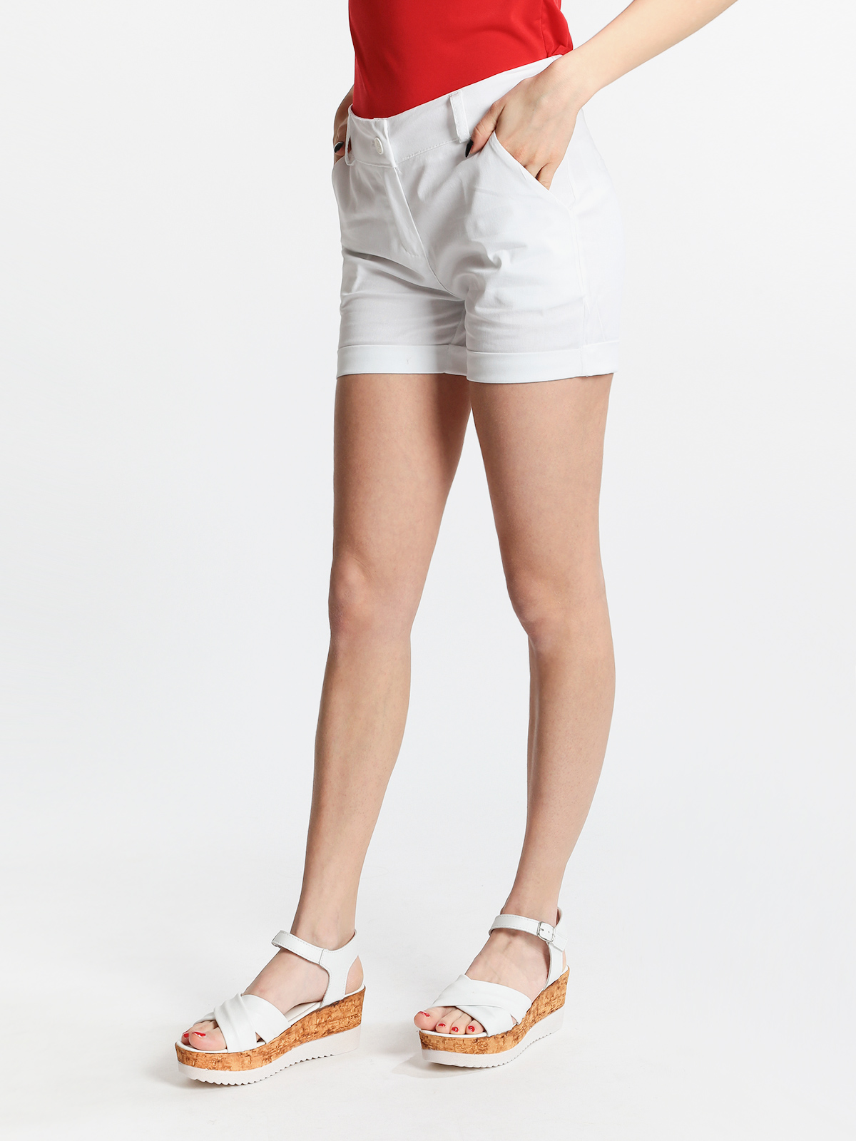 Cotton Shorts With Lapels