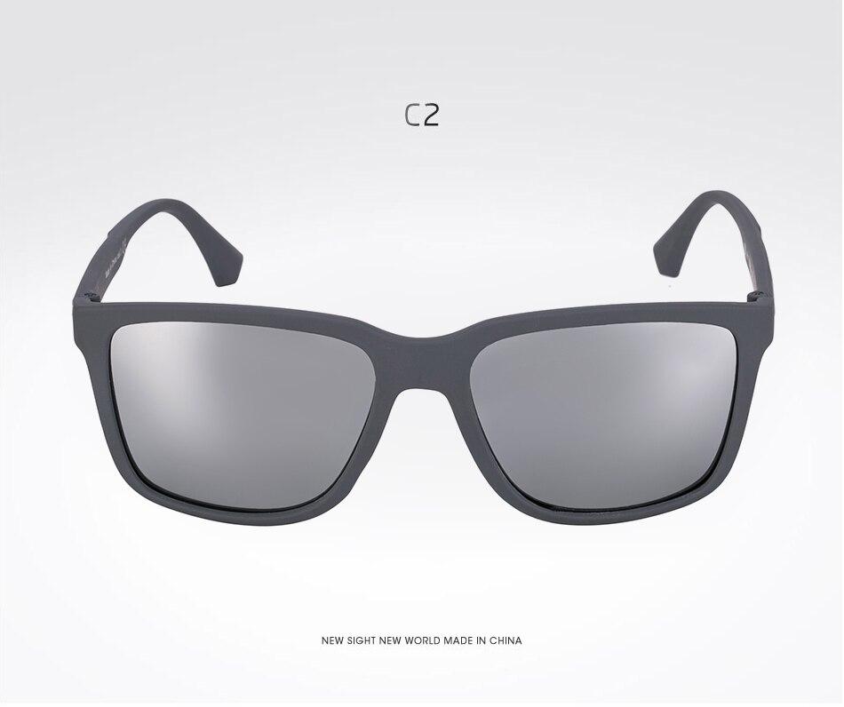f93337a6485c3 SARA Square Polarized Sunglasses Men Women Brand Designer Mirror ...