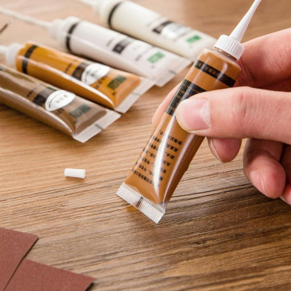 5 Color Hot New Furniture Scratch Fast Remover Solid Wood Furniture Refinishing Paste Repair Paint Floor colors Paste Repair Pen in Timber Paint from Home Improvement