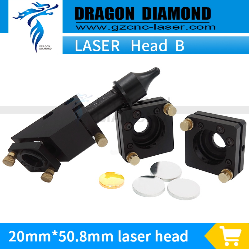 High Quality Co2 Laser Head Set 50.8mm 2'' Lens D20D25 Mo Mirror laser head+mirror mount*2 for CO2 Engraver Cutter аксессуар greenconnect micro usb 2 0 am micro b 5pin 0 15m black gcr ua8amcb6 bb2s g 0 15m