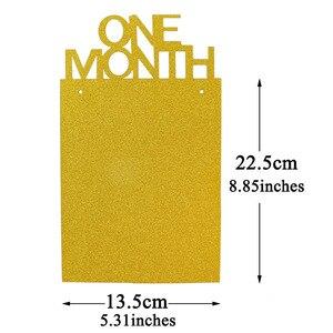 Image 4 - Lincaier ilk doğum günü 12 ay fotoğraf çerçevesi afiş 1st bebek erkek kız süslemeleri benim 1 bir yıl parti malzemeleri