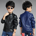 Jackets For Boys Good Quality Faux Leather Baby Jackets Solid Full Sleeve Kids Clothes For Boys Zipper Baby Autumn Boy Coats