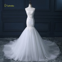 Loverxu Graceful Detachable Train Mermaid Wedding Dress