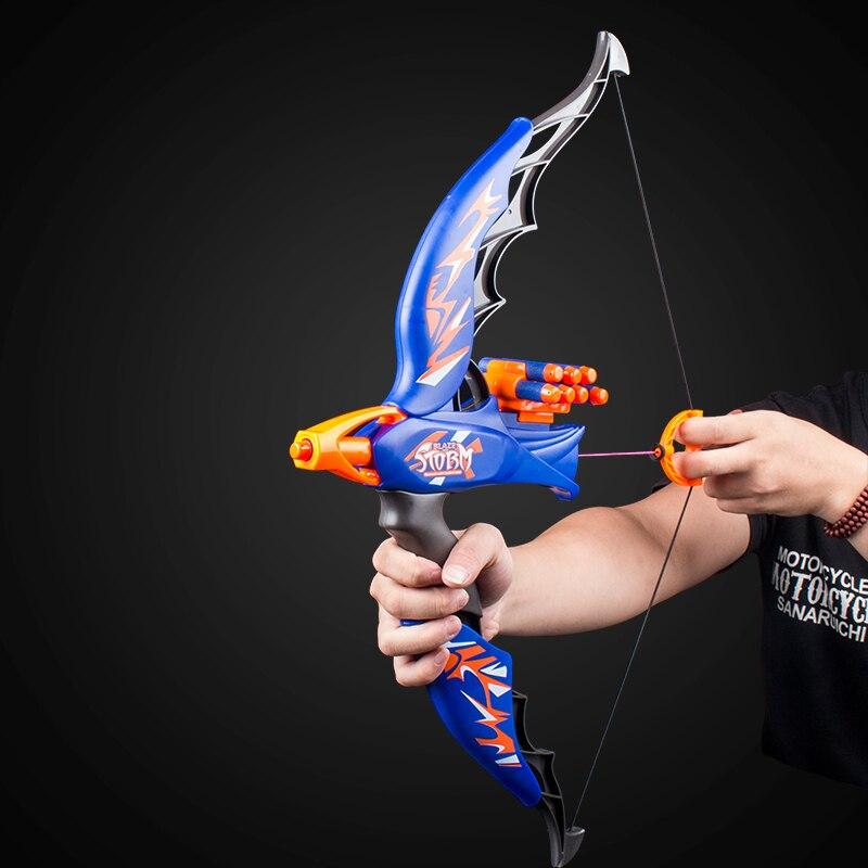 Offre spéciale lance-pierre arc jouets pistolets pour enfants jouant drôle jeu de plein air balle molle arc pistolets jouets tir jouet pour garçons enfants