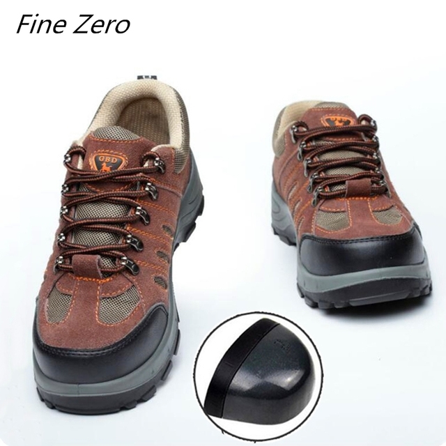 Spring Autumn Work Shoes Men Fahion Breathable Steel Toe Casual Boots Labor Insurance Mens Safety Shoes Construction Sneakers