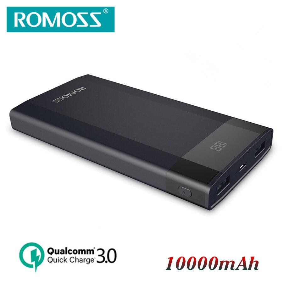 imágenes para Original romoss dp10 carga rápida 3.0 banco de la energía 10000 mah bidireccional Apoyo de Carga rápida QC3.0 QC2.0 MTK 12 V 9 V 5 V pover poverbank