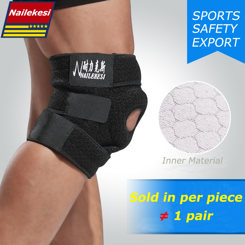 1 Piece Elastic Knee Support Brace Kneepad Adjustable Patella Knee Pads Safety Guard Strap For Basketball Free Size