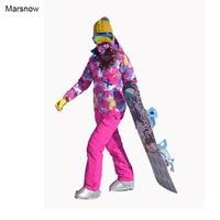 30 Degree Women Winter Sport Ski Suits Sets Waterproof Windproof Thicken Coats Warm Snowboarding Skiing