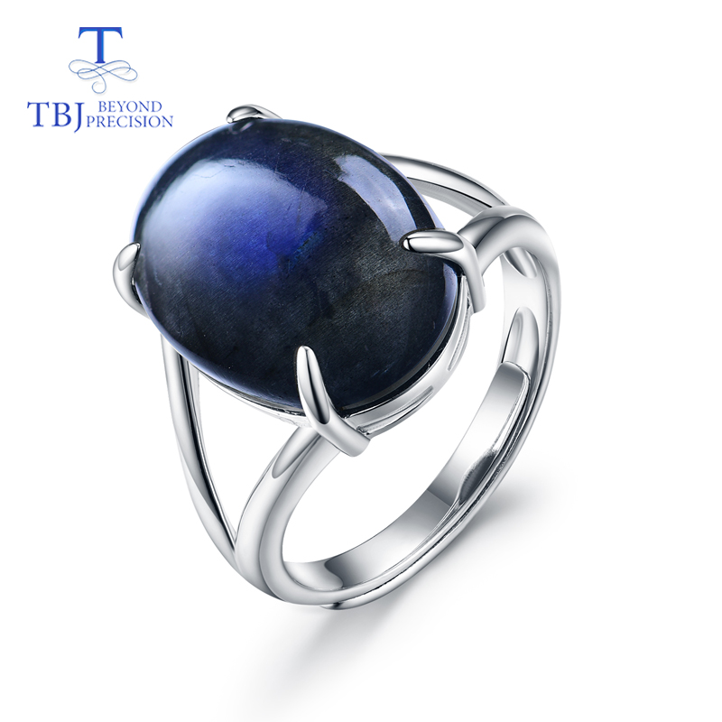 TBJ,Labradorite rings 100% natural gemstone simple classic design  925 sterling silver fine jewelry for women with jewelry boxTBJ,Labradorite rings 100% natural gemstone simple classic design  925 sterling silver fine jewelry for women with jewelry box