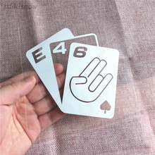 Poker Card Car Sticker Window Performanc Decal Styling For BMW E28 E30 E34 E36 E37 E38 E39 E46 E60 E80 E90 F10 F20 F30