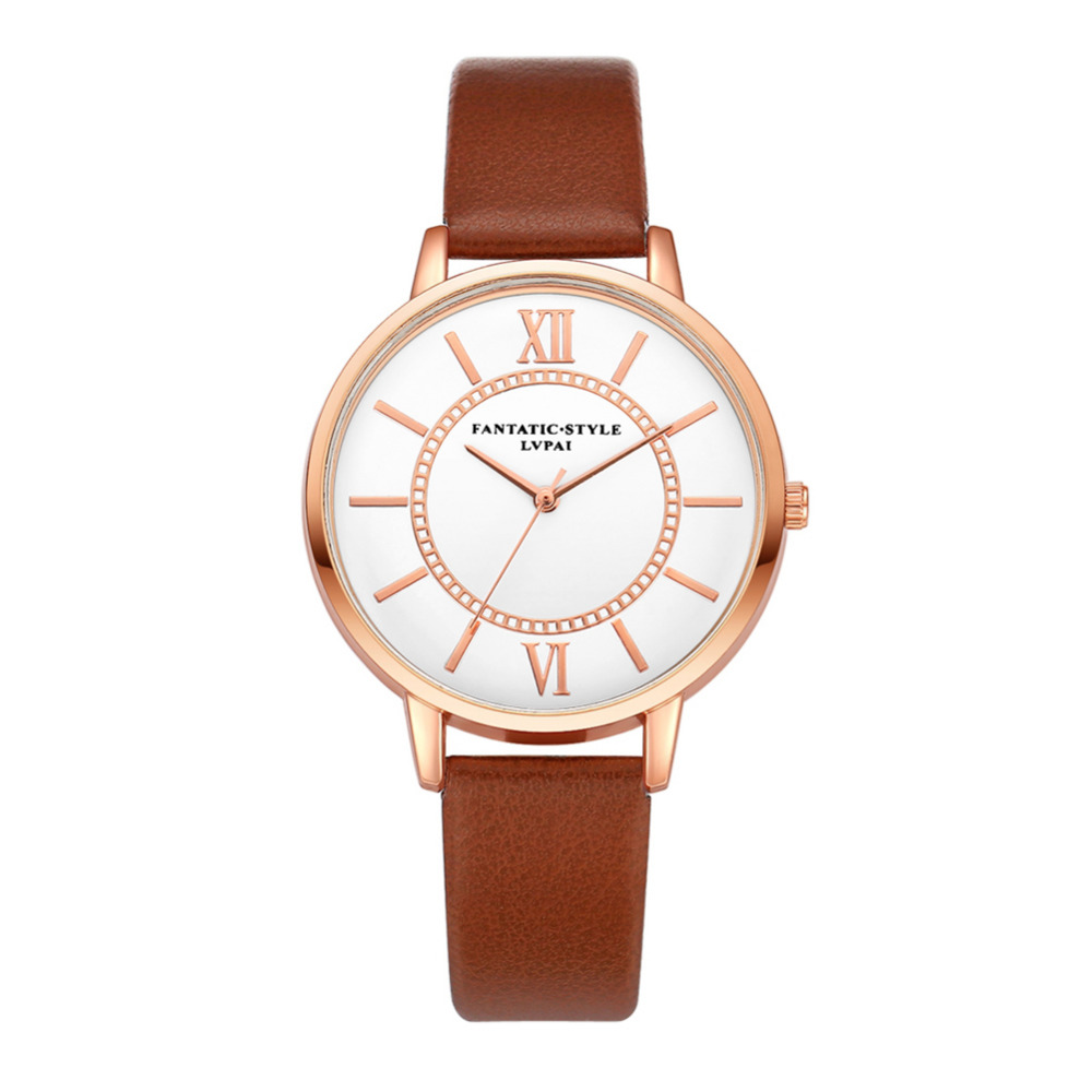 Fashion Leather Ladies Watch Women Watches Business Quartz Wristwatch Clock Bracelet Watch montre femme bayan saat newly design dress ladies watches women leather analog clock women hour quartz wrist watch montre femme saat erkekler hot sale