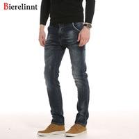 Bierelinnt Elastic Straight Fashion Hot Sale Casual Jeans Men,Cotton Denim 2017 New Arrival Good Quality Men Jeans,PG6381#