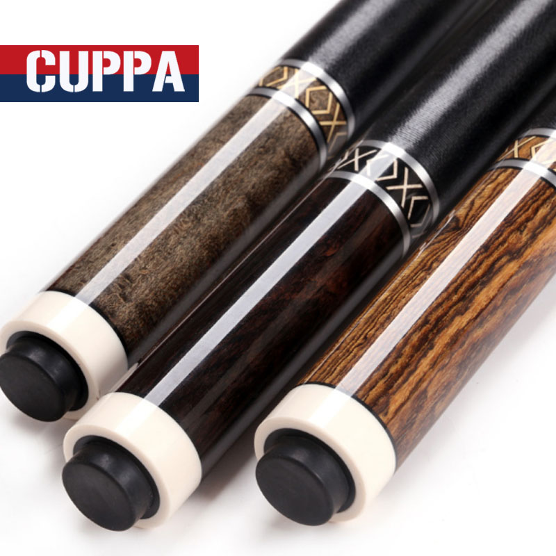 2017 New Arrival CUPPA High Quality Pool Cue 11.75mm/13mm Tips With Pool Cue Case Set Ebony Butt China  new cuppa pool jump cue 13 5mm black bakelite tips punch