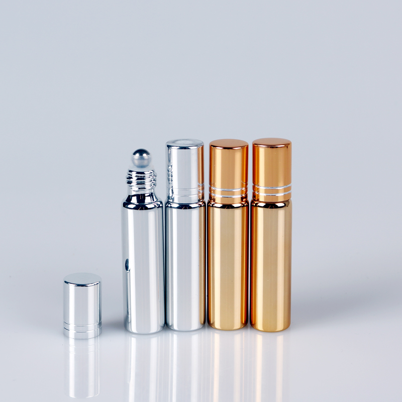 Wholesale 100 Pieces/Lot 10ML Refillable  Mini Cute UV Glass Perfume Bottle With Roll On Empty Essential Oil Case Eye Cream Vial 10 pieces lot wholesale price brazilian