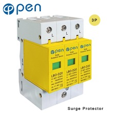 цена на OPEN LBO-D20 Series Household SPD Surge Protector 3P 10kA 20kA 380VAC Low Voltage Arrester Device