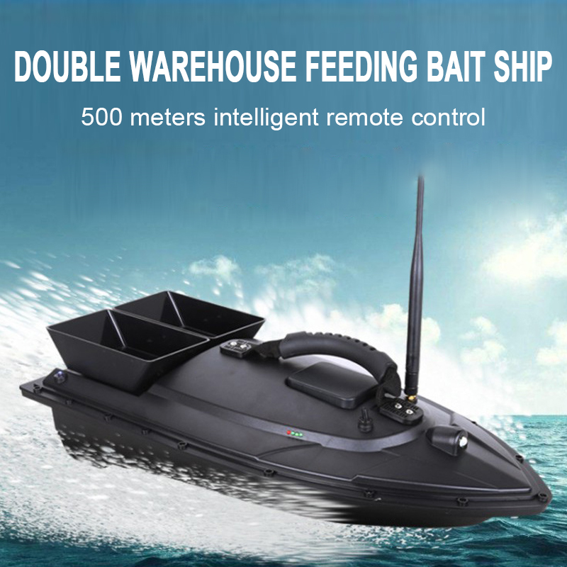 500M Smart RC Bait Boat Fishing Tool Fish Finder Digital Automatic Frequency Modulation Remote Radio Control Device Fish Toys