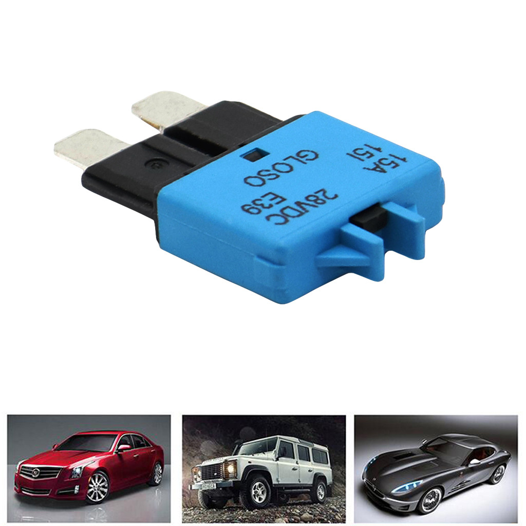 5PCS 30A Circuit Breaker Blade Fuse 28V Resettable Marine Rally Car Fuses
