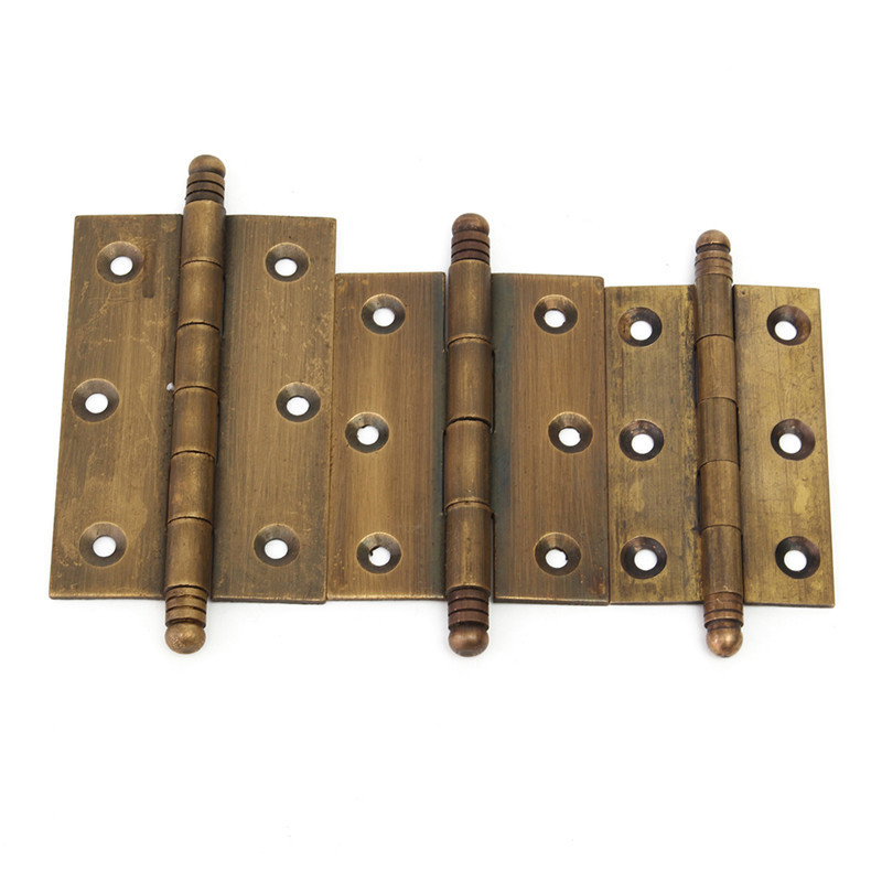 Excellent Quality Dark Copper Door Hinges For Solid Wood Furniture Home  Hardware Vintage Style 3 Size