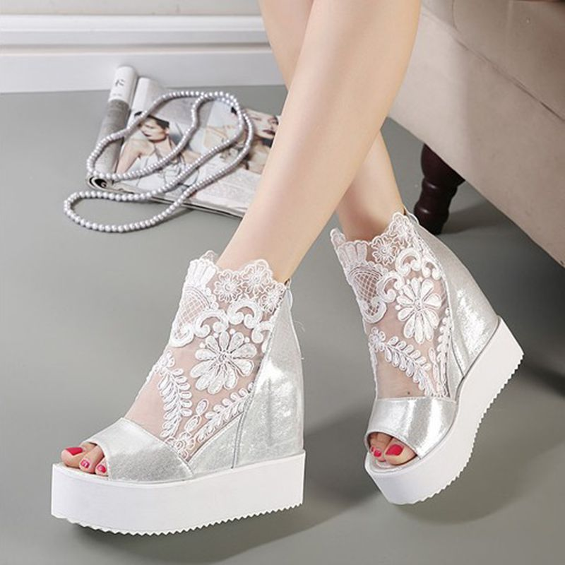 Summer Pumps Sweet Lace Womens