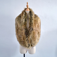 New Arrival Faux Fox Fur Shawl Super Big Women Winter Party Outdoor Cool Fur Scarf Long