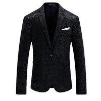 Lusso Uomini Giacca Sportiva Brand Design Slim Fit Mens Floreale Blazer Casual Singolo Pulsante Blazers Homme Wedding Prom Abito da Uomo Giacca 4XL