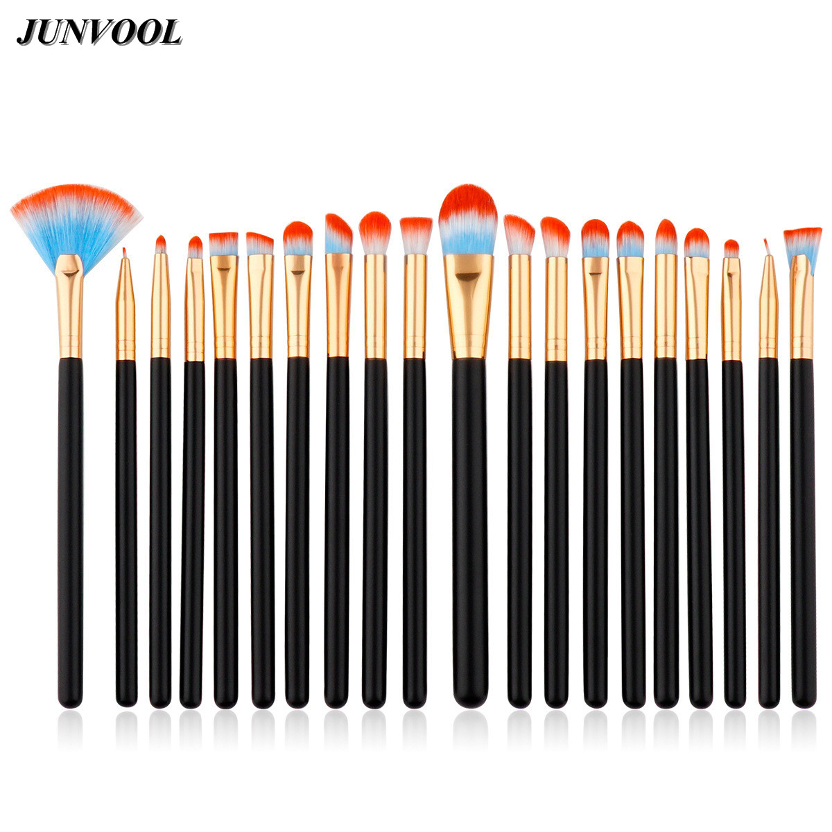 20Pcs Eye Shadow Makeup Brushes Set Eyeliner Eyelid Eyebrow Eyeshadow Lip Make Up Fan Brush Colorful Cosmetics Beauty Tools Pro 20 pcs set makeup brushes set eye shadow foundation eyeliner eyebrow lip brush cosmetics tools kits beauty make up brush 2017