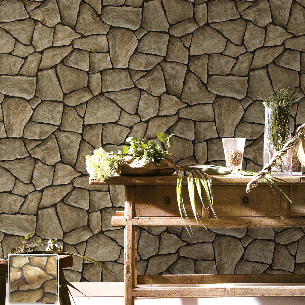 3d Peel And Stick Brick Wallpaper Haokhome Vintage Faux Marble Stone Wallpaper Rolls Taupe