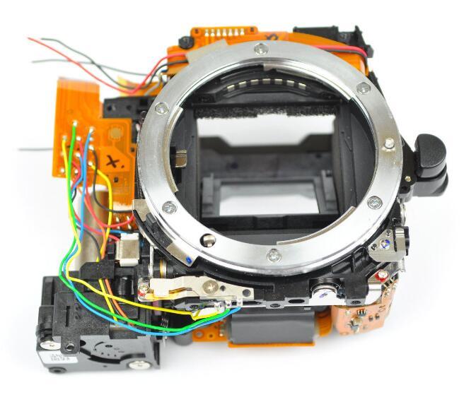 Original Mirror Box Main Body Framework With Shutter, Aperture Unit,Reflective Glass Diaphragm For Nikon D90 Camera Repair Part