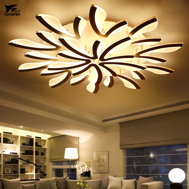 Acrylic Led Remote Ceiling Lamp Control Dimming Lights Room Light For Living Bedroom