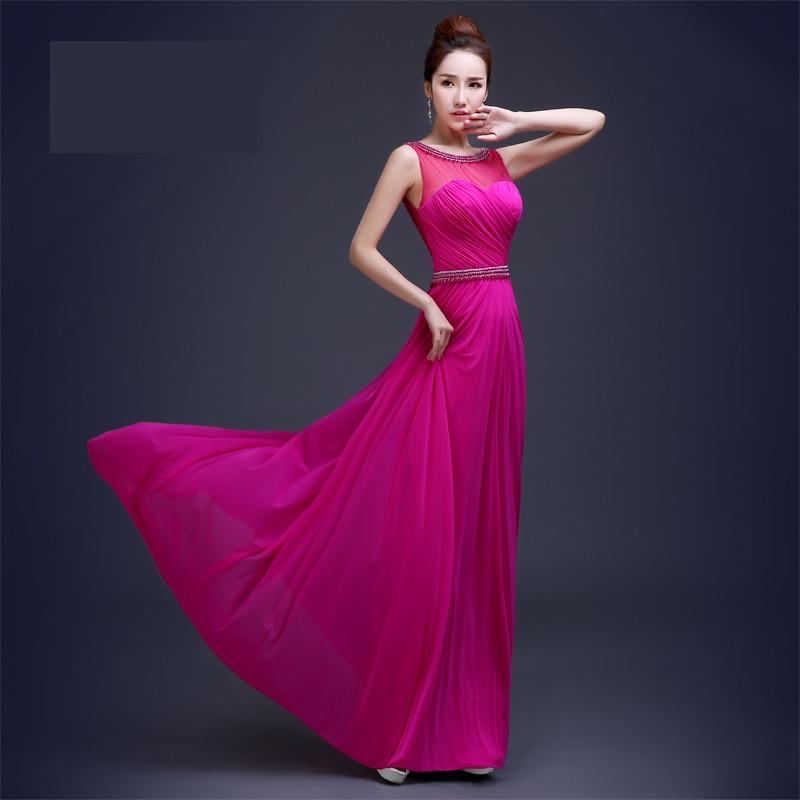 Excelente Vestidos De Dama De Rosa Rojos Colección de Imágenes ...