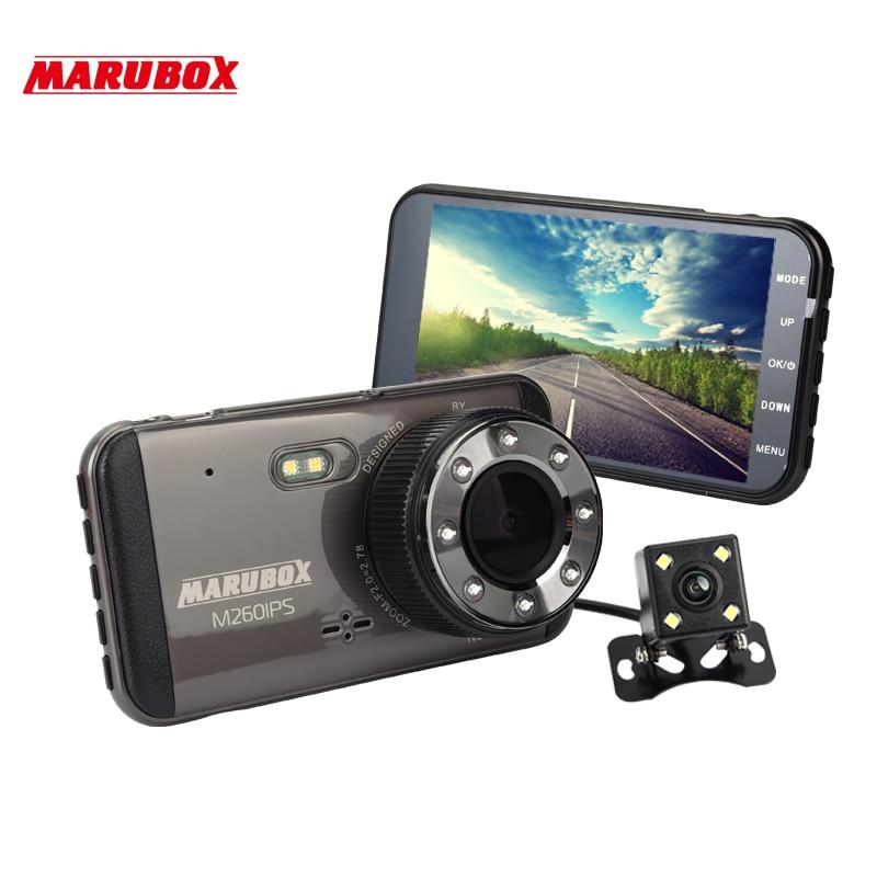 MARUBOX M260IPS Car DVR Dash Camera Full HD 1920x1080 Dual Lens Dashcam With Rearview Camera For