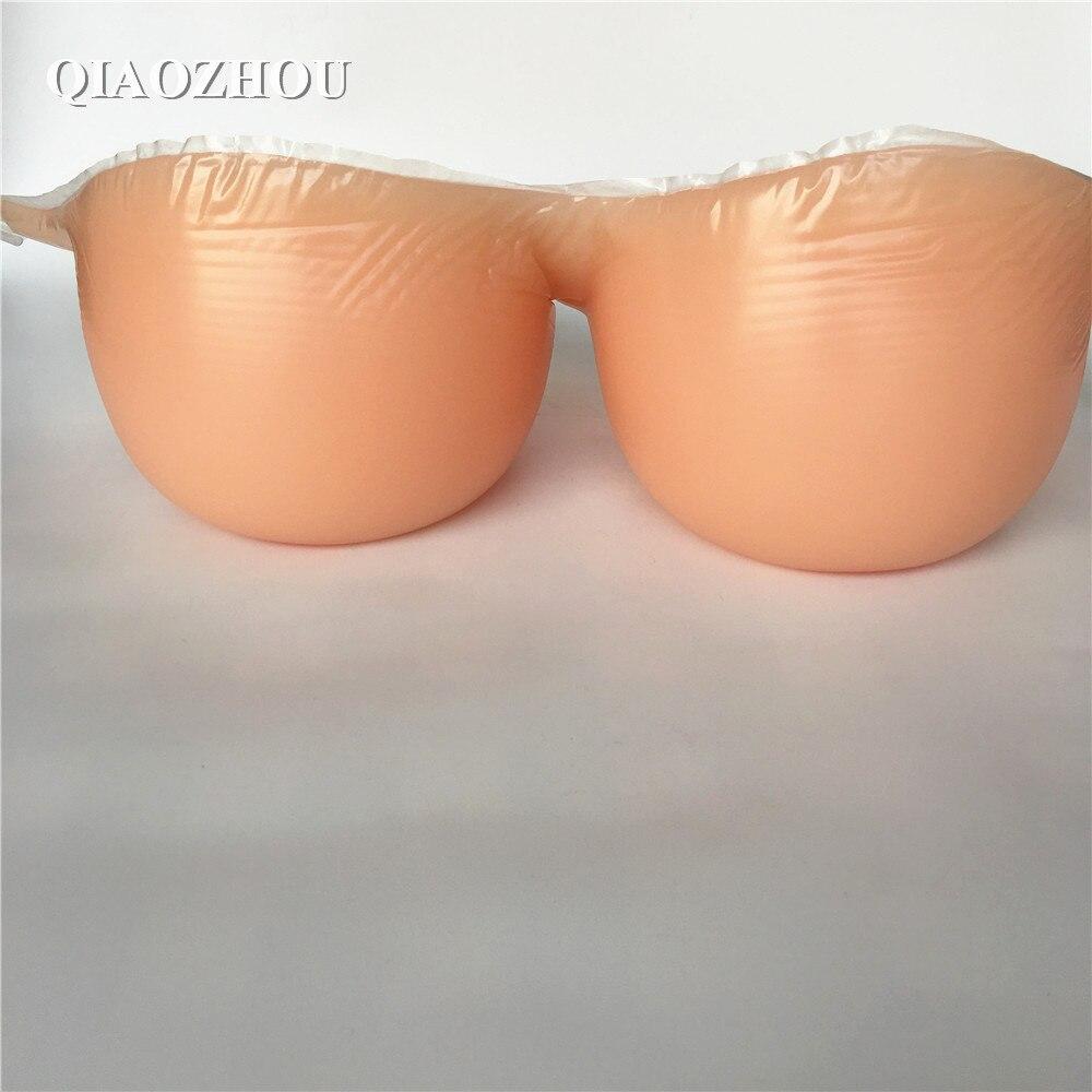 4100 г/пара one piece поддельные кремния грудь с бюстгальтер ремни real soft Ложные сиськи протез