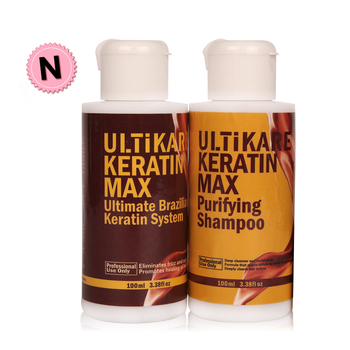 цена на 5% Brazilian Keratin Hair Treatment Formalin 100ml Purifying Shampoo Straightening Smooth Shiny Hair