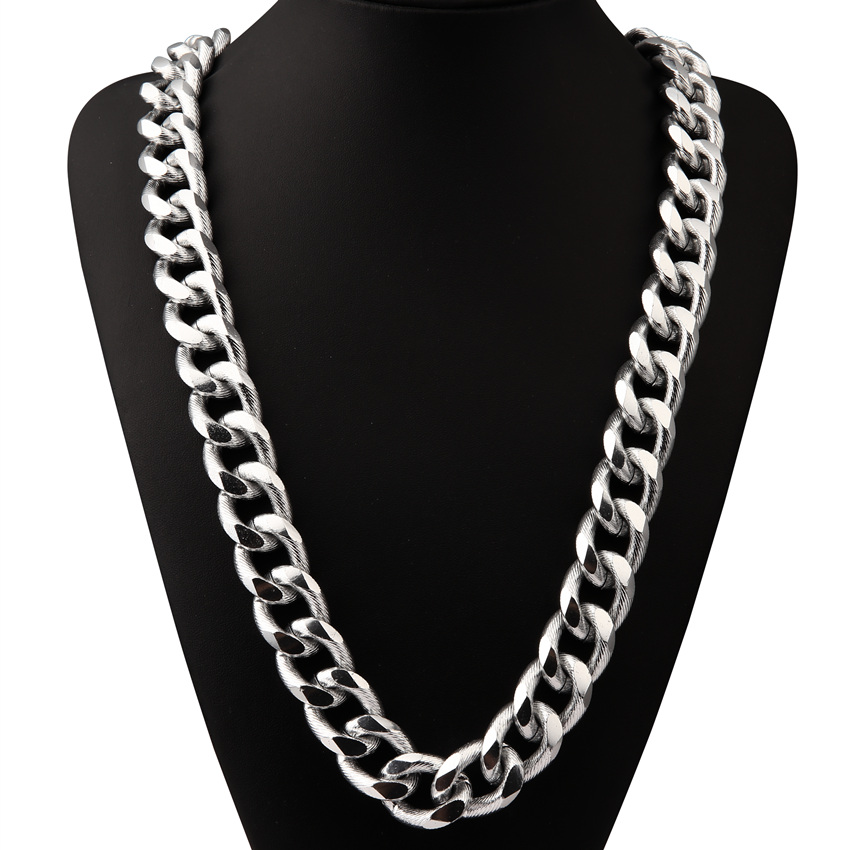 fashion Collar punk Rock and roll gear chain swag Necklaces for men club gold Jewelry Bboy