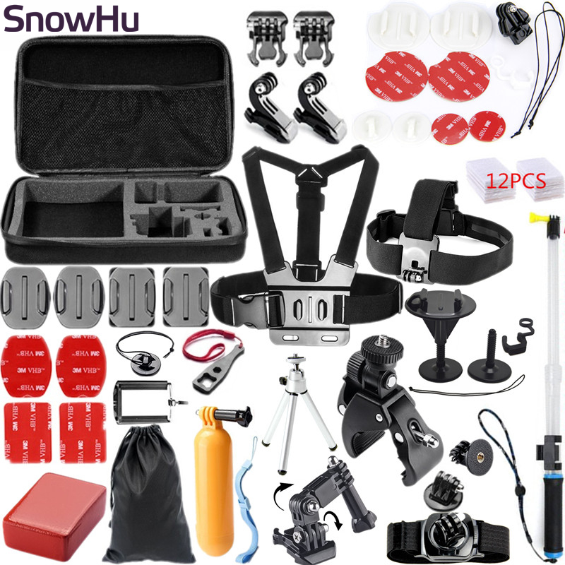SnowHu for Gopro Surfing Accessories Set Mount Waterproof Monopod for Go pro hero 7 6 5 4 3 2 1 for EKEN h9 camera GS55