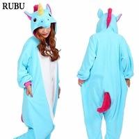 Onesie Adult Blue Unicorn Pajamas Animal Winter Flannel Kigurumi Totoro Cat Cartoon Onesies Pyjamas Hoodie Cosplay