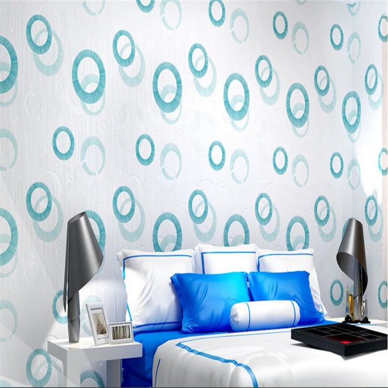 beibehang Modern Simple Nonwovens Wall paper Circle 3D Stereo Plant Sakura Bedroom Living Room papel de parede 3d Wallpaper beibehang nonwovens healthy fashion