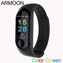 Banda M3 Android IOS Smartwatch inteligente Pulseira Sono Monitor de Freqüência Cardíaca de Fitness Rastreador De Fitness Tela Colorida Banda VS mi banda 2 3